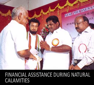 NUSI Financial Assistance during natural calamities