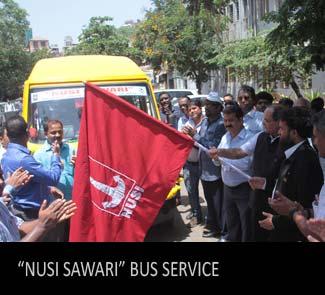 """""""NUSI SAWARI"""" bus service"""