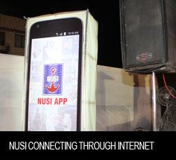 NUSI Connecting through internet