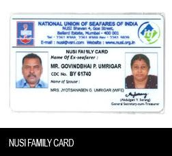 NUSI Family Card
